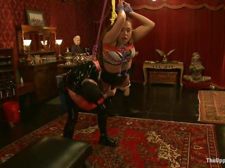 fucked hard in bondage on upper floor