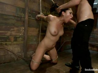hispanic brunette chick dominated and mouth fucked