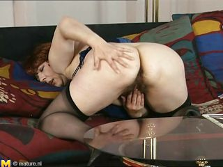 mature old women playing with herself