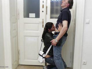 horny teen with her old geezer!