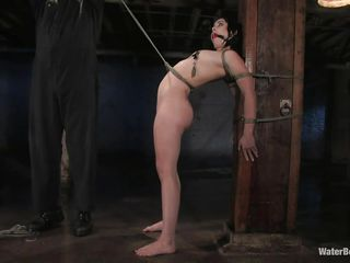 pretty bitch tied and made wet by her masked executor