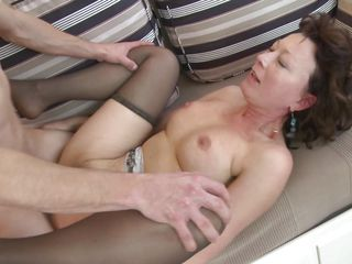 slutty mature lady appeased by a young guy