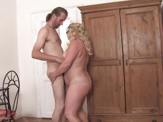 mature blonde getting fucked from behind