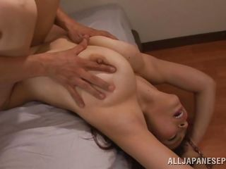 busty babe is the subject of pleasure to both of the guys