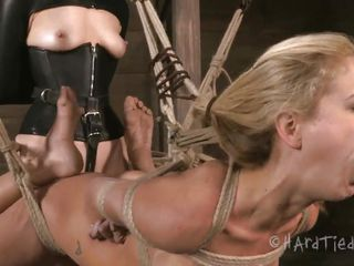 perfect body blonde hanged&fucked