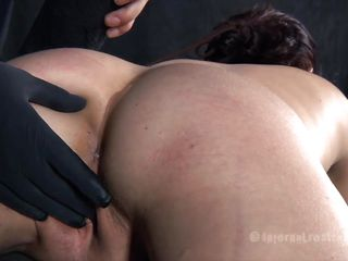 superb ass brunette punished