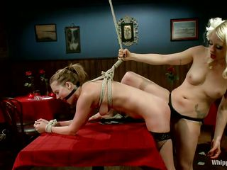 tied, bent over and dominated