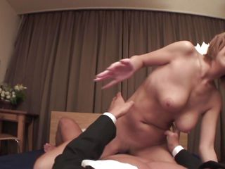 dominatrix japanese housewife straddles husband