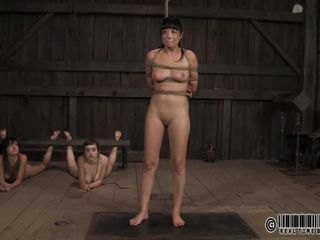 two mistresses whip slave