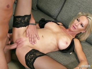blonde milf impaled by a massive cock