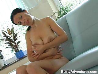 brenda shows off her floppy boobs