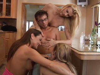 dorky guy sexually used by hot cougars