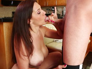 mom takes care of her boy's cock