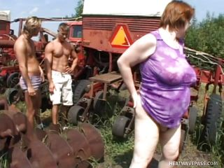 fat farm chick fucked by two hunks