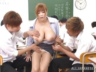 busty nippon teacher exploited by her students