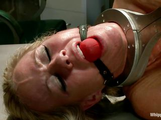 redheaded mistress fills her slave's hole