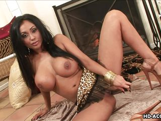 indian beauty masturbates with a silver dildo