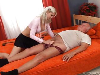 blonde slut sucked grandpa @ this isn't bad grandpa it's a xxx