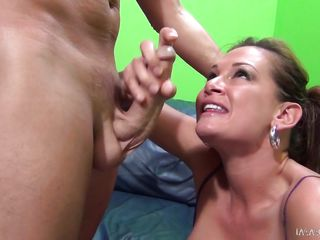 she enjoys sucking cocks and balls.