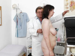 mature pussy examined by her doc