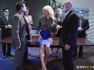 blondie receives a special visit at work
