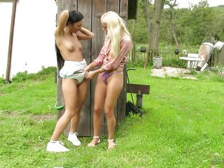 lesbos make out by outhouse