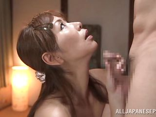 mature japanese lady gets a cock down her throat