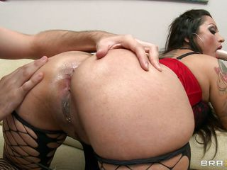 horny brunette fucked real hard in the ass