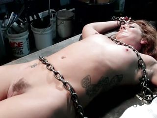 slave has her pussy lips pinched together