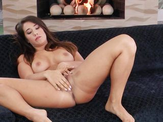 long-haired lovely can't wait to get naked