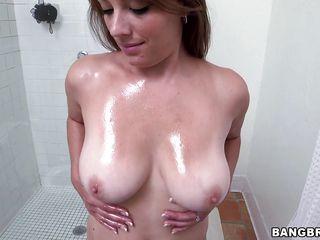 kayla showering
