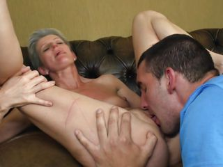 mature lady spreads them wide