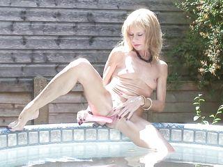 a special outdoor bath