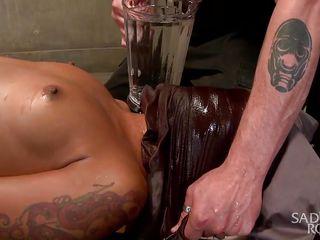 skinny endures water torture