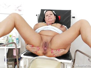 busty nurse hanging out in gynecology