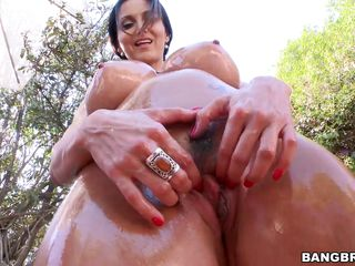 ava teases in the backyard
