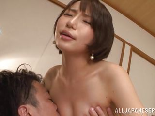 cute ayumi sucks his cock and balls