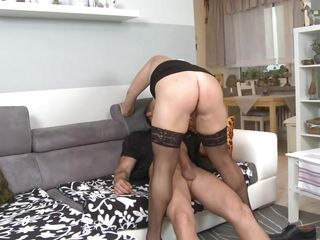 alex gets fucked in her stockings