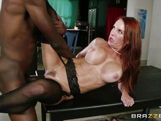 redhead milf has interracial sex