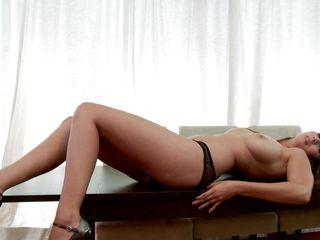 tall sexy milf with hot breasts masturbating