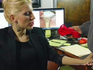 sexy blonde boss is fantasied about her worker