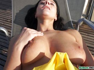 rooftop fun with enza, the big breasted whore