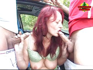 hot laurie sucks cocks on the street