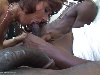 mature sucks three black dicks