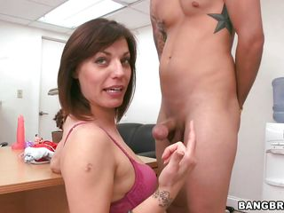 milf nailed on a table