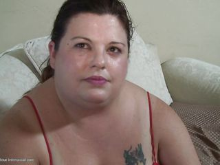 fat slut swallows a big black sausage