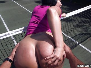 tennis session turns into fucking session