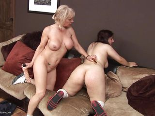 big tited mature uses a dildo for this slut