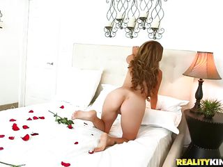 milf beauty and her rose