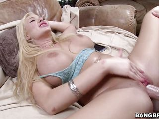 busty blonde gets fucked with her legs spread